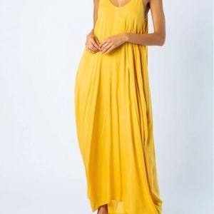 Harem Boho Mustard Maxi Dress